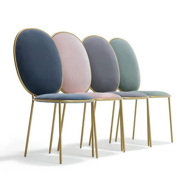restaurant furniture round back metal dining chair