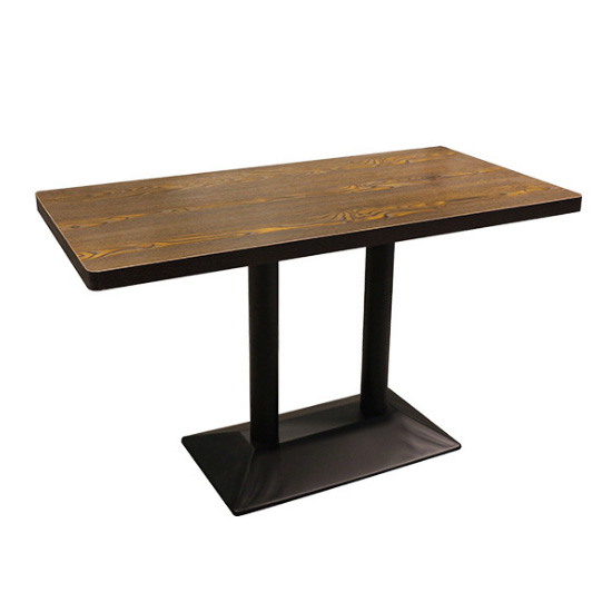 Rectangular iron base dining table