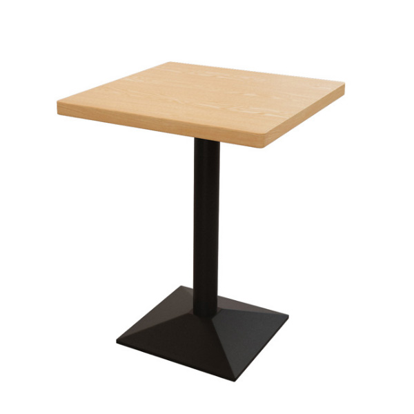 Coffee shop square dining table