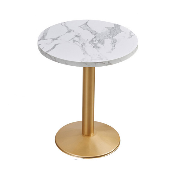 Restaurant round metal dining table