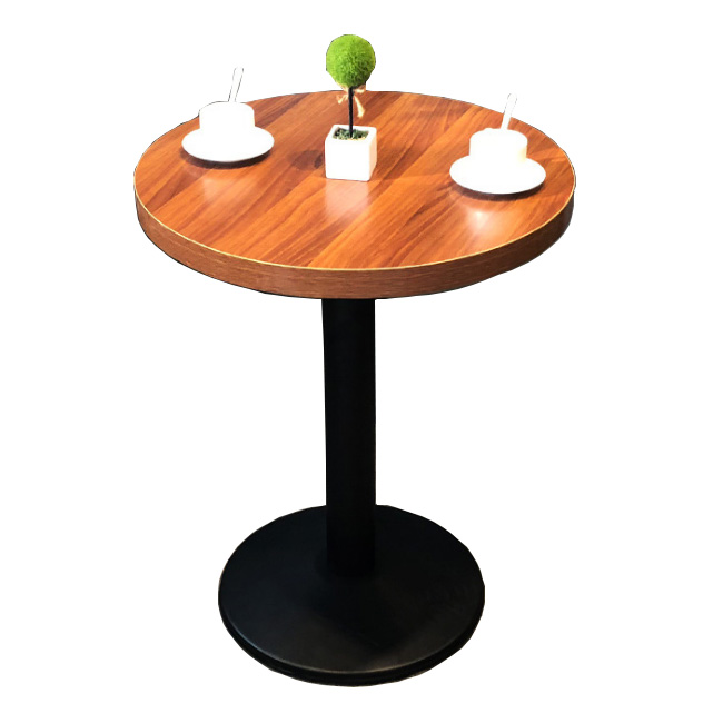 China manufacture round metal base restaurant table
