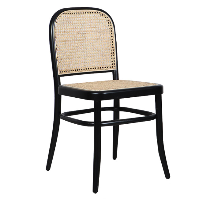 Real rattan restaurant chair