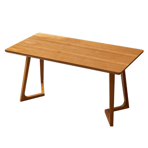 Rectangle restaurant cafe wood dining table