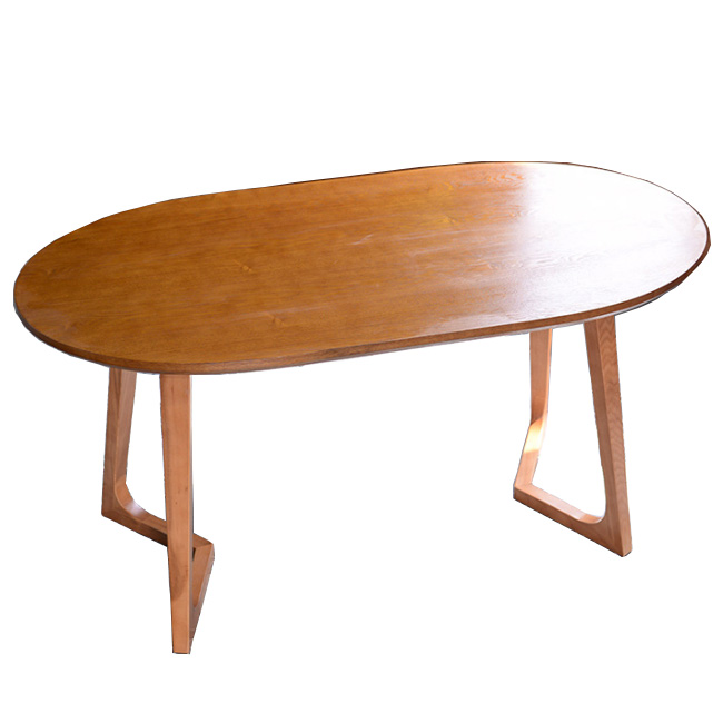 Oval cafe restaurant coffee table