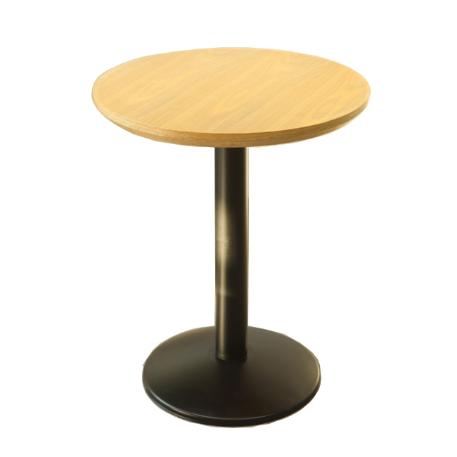 Round iron base black restaurant cafe table