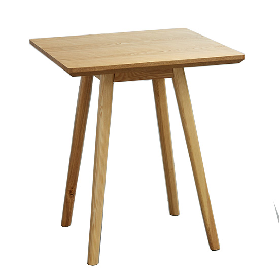 square solid wood cafe restaurant table