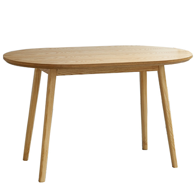 Solid wood oval restaurant dining table