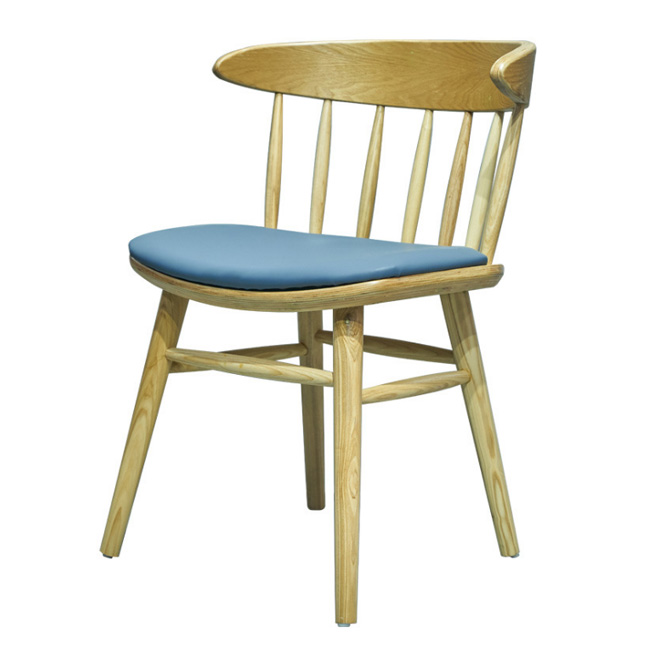 Solid wood restaurant cafe chair
