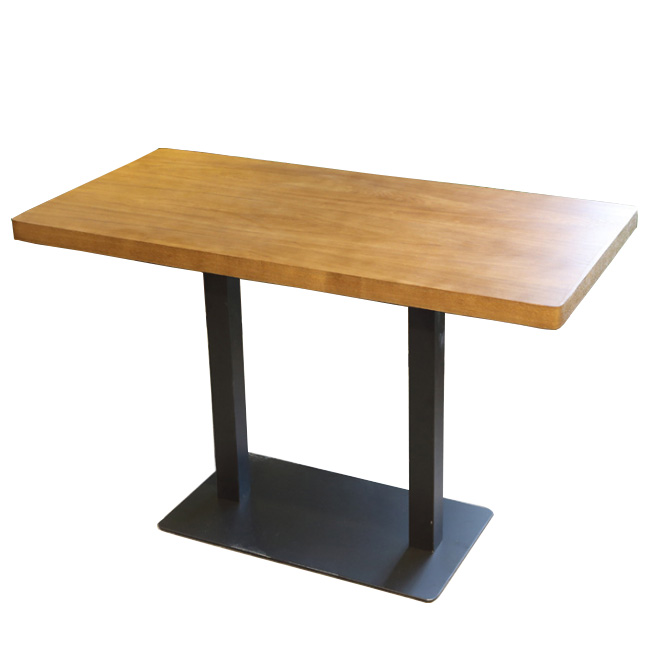 Coffee shop cafe rectangle dining table