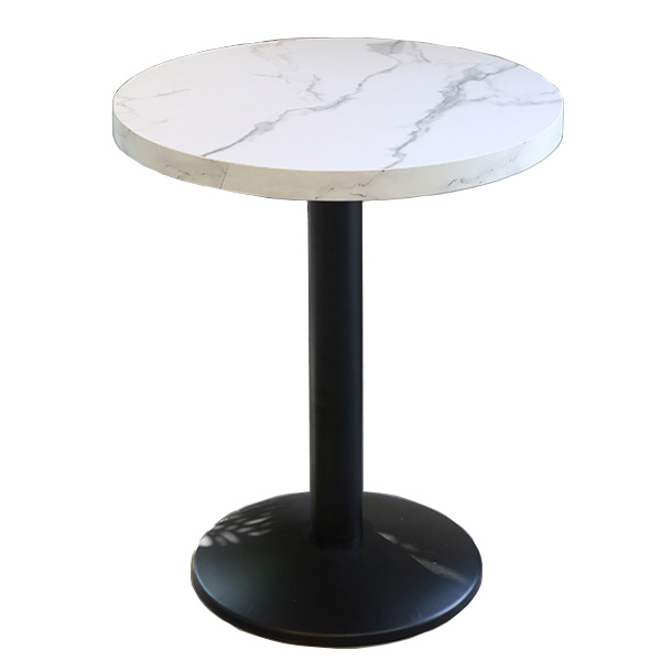 Round restaurant cafe dining table