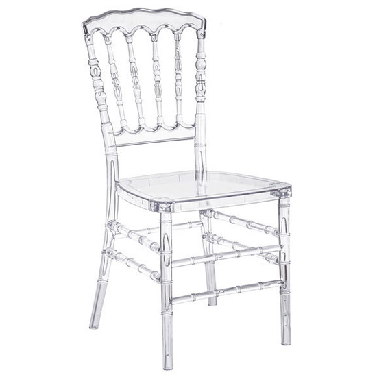 Acrylic resin transparent banquet chairs for wedding event