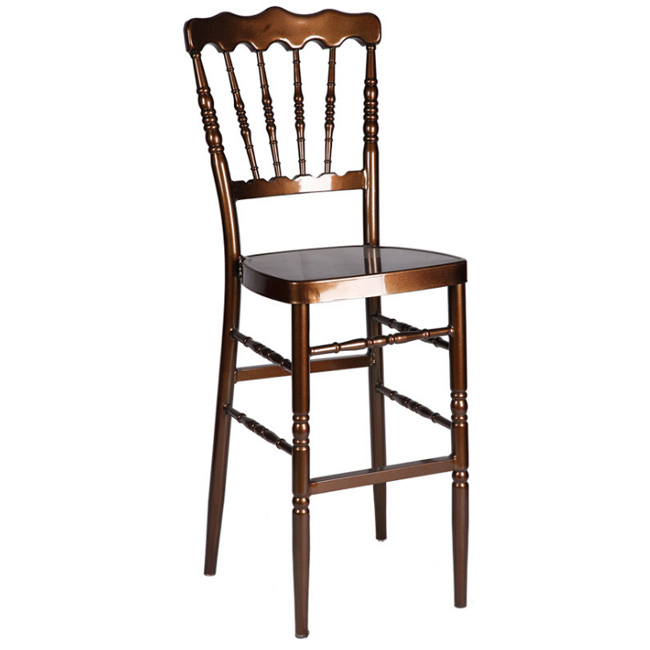 Metal chiavari wedding event chair stacking clear napoleon barstool