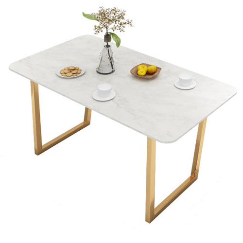 Metal leg marble top restaurant dining table