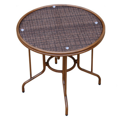 Patio aluminum rattan restaurant dining table