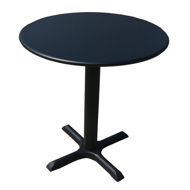 Round modern outdoor steel patio dining garden table
