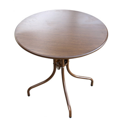 Patio outdoor furniture round metal dining table
