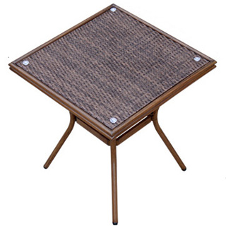 Patio aluminum rattan restaurant square dining table