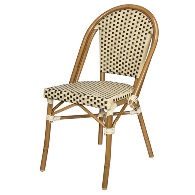 Rattan outdoor chair france bistro cafe wicker chair garden chair