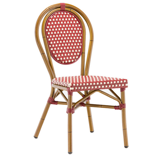 All weather UV resistant french bistro restaurant outdoor rattan chair