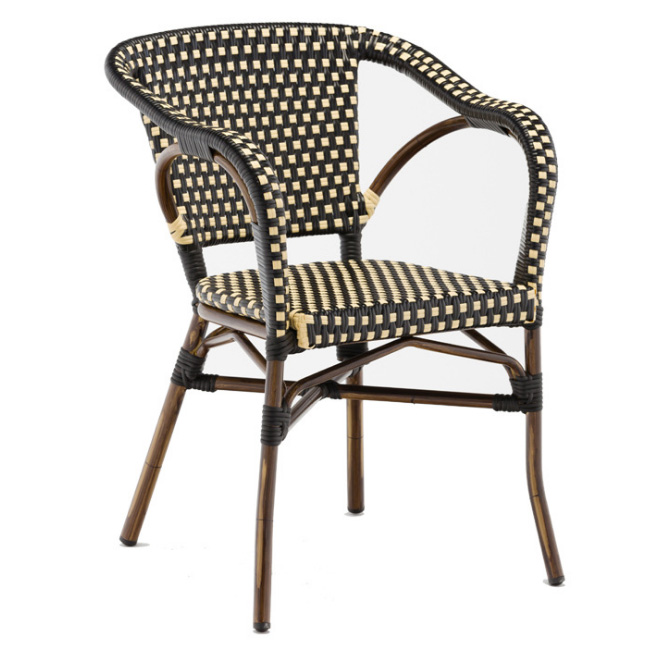 Vintage restaurant furniture waterproof rattan chairs dining chairs wholesale