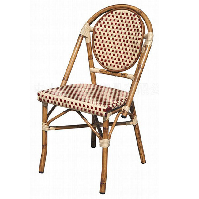 Patio outdoor rattan home hotel garden aluminum wicker dining chair