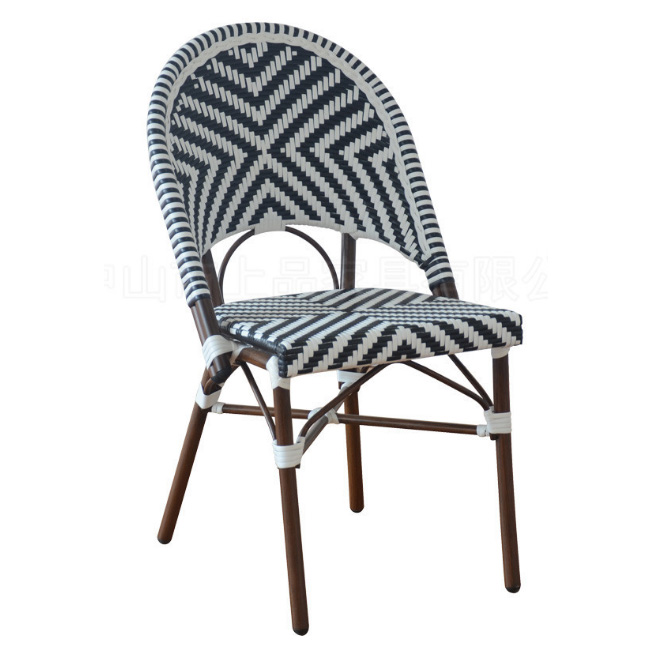 Aluminum Patio french bistro rattan cafe chair
