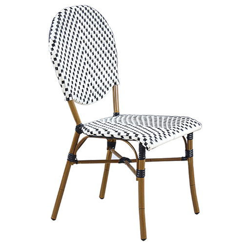 Stackable restaurant furniture bistro rattan dining chair