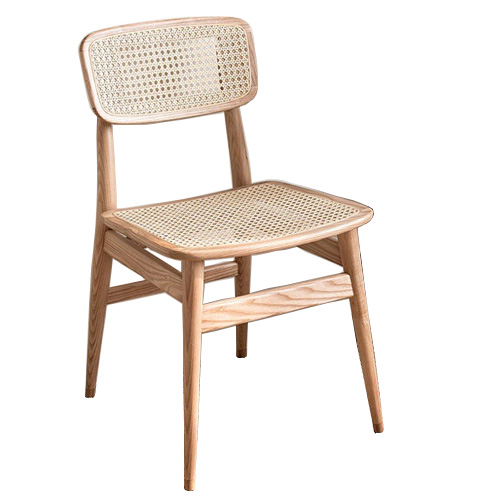 China manufacturer wholesale wooden rattan restaurant hotel cafe dining chair