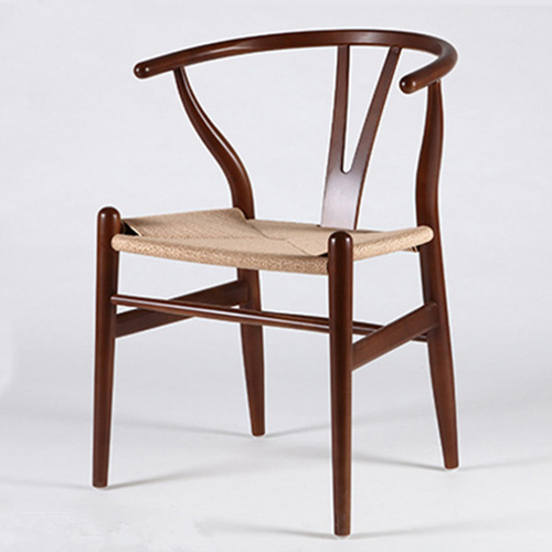 Y back restaurant wooden dining chair made in China