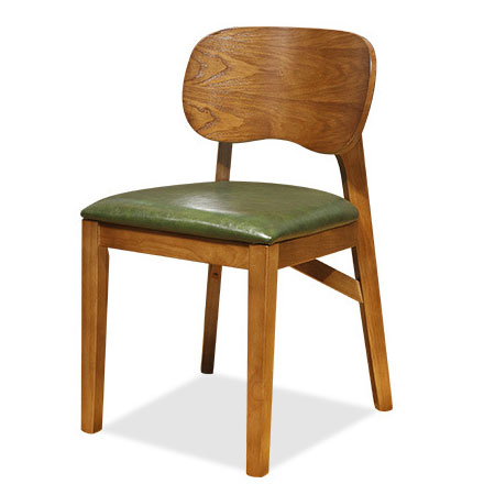 Simple solid wood restaurant dining chair