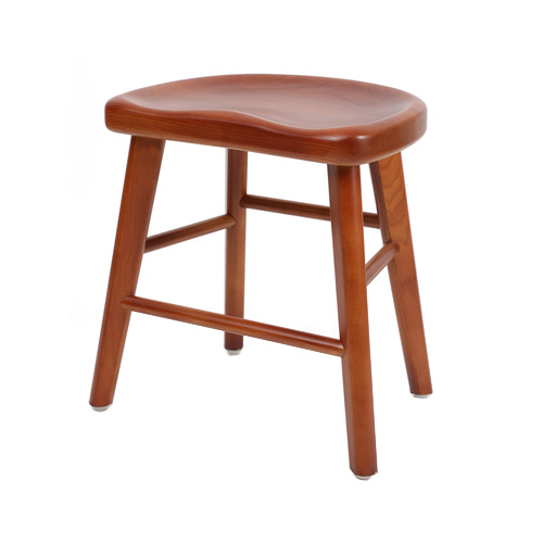 solid wood restaurant cafe stool